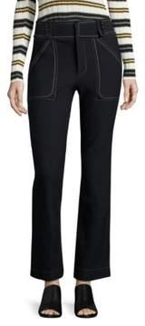 Derek Lam 10 Crosby Cropped Flared Utility Jeans