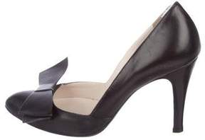 Marc Jacobs Leather Bow Pumps