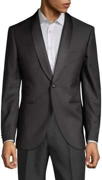 Lubiam Men's Printed Wool Jacket