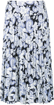 Christian Wijnants floral print pleated skirt