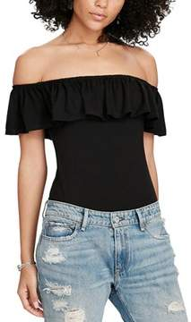 Denim & Supply Ralph Lauren Ruffled Off The Shoulder Bodysuit.
