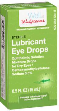 Walgreens Sterile Lubricant Eye Drops Dry Eye