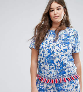 Alice & You Co-Ord Top With Tassel Trim