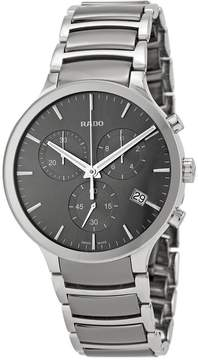 Rado Centrix Chronograph Dark Grey Dial Platinum-tone Ceramic Men's Watch