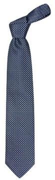 Forzieri Blue Checks Basketweave Woven Silk Tie
