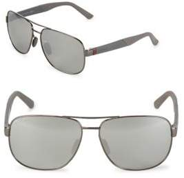 Gucci Mirrored 63MM Aviator Sunglasses