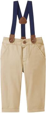Gymboree Tan Suspender Pants - Infant