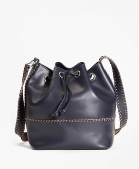 Brooks Brothers Leather Daria Bucket Bag