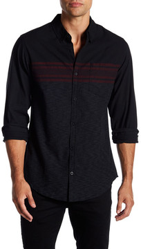Burnside Long Sleeve Stripe Regular Fit Shirt