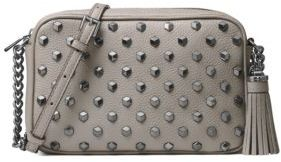 MICHAEL MICHAEL KORS Ginny Stud Leather Crossbody Bag