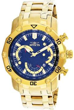 Invicta Men's Pro Diver 22767 Gold Stainless-Steel Japanese Chronograph Diving Watch
