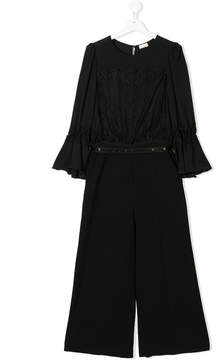 Elisabetta Franchi La Mia Bambina TEEN lace detail jumpsuit