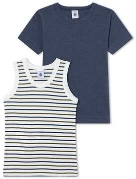 Petit Bateau Set of boys T-shirt and undershirt