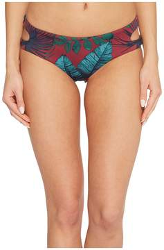 Bikini Lab THE Why Can't We Be Fronds Cut Out Hipster Bottom Women's Swimwear