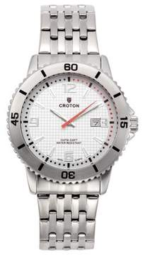 Croton Men's Aquamatic Stainless Steel Silver Dial Sport Watch with Date