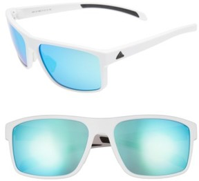 adidas Women's Whipstart 61Mm Sunglasses - White/ Blue Mirror