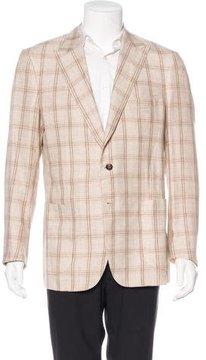 Luciano Barbera Linen-Blend Sport Coat