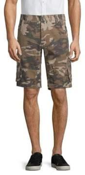 Buffalo David Bitton Camouflage Cotton Cargo Shorts