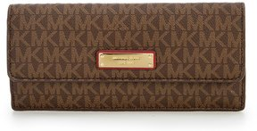MICHAEL Michael Kors Signature Flat Wallet - BROWN/MULBERRY - STYLE