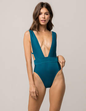 Bikini Lab Ribbed One Piece Swimsuit