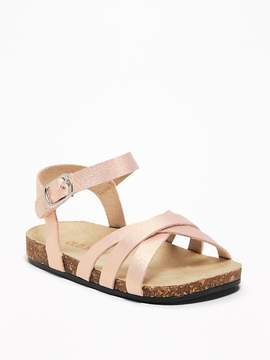 Old Navy Metallic Faux-Leather Strappy Sandals for Baby