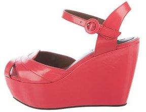 Marni Patent Leather Platform Wedge Sandals