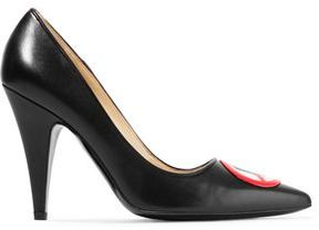 Moschino Appliqu&eacuted Leather Pumps