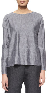 eskandar Long-Sleeve Bateau-Neck Top