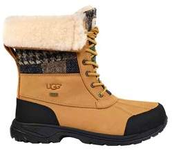 UGG Men's Cold Weather Patchwork Butte Boot, Wheat, Size 8.0.