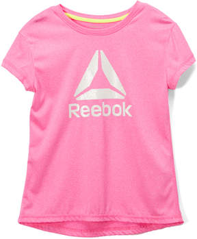 Reebok Heather Pink 'Reebok' Marled Tee - Toddler & Girls