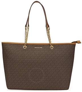 Michael Kors Jet Set Medium Multifunction PVC Tote - Brown - ONE COLOR - STYLE
