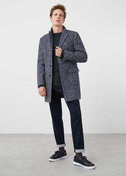 Mango Outlet Tweed wool coat