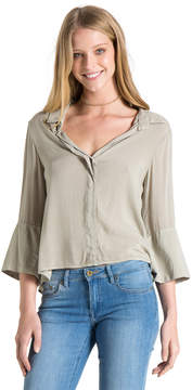 Bella Dahl Tie Back Shirt-Vetiver-S