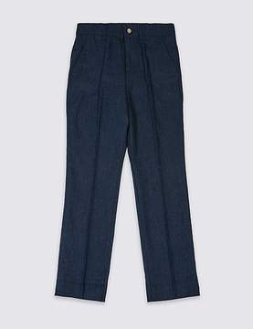 Marks and Spencer Linen Blend Trousers (3-14 Years)