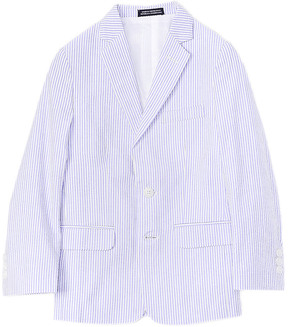 Nautica Boys' Blue Seersucker Jacket