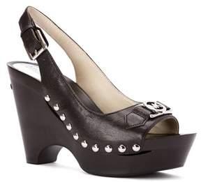 MICHAEL Michael Kors Women's Charm Sling Leather Platform Pumps.