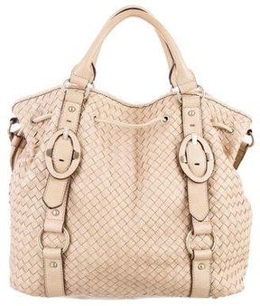 Reiss Leather Drawstring Bag