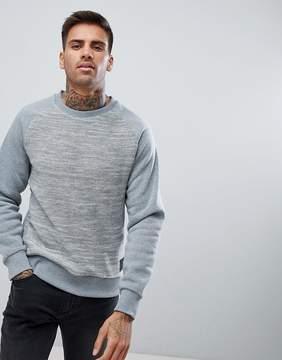 Brave Soul Crew Neck Raglan Textured Sweatshirt