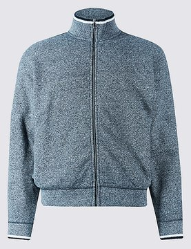 Marks and Spencer Pure Cotton Textured Fleece Jacket