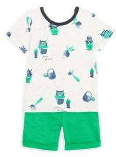 Catimini Baby's Printed Tee& Shorts Set