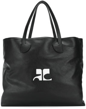 Courrèges logo tote bag