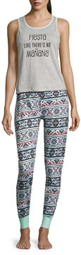 Asstd National Brand 2-pc. Floral Pant Pajama Set-Juniors