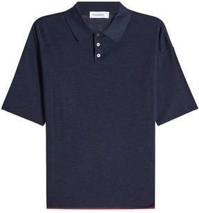 Jil Sander Silk Polo Shirt