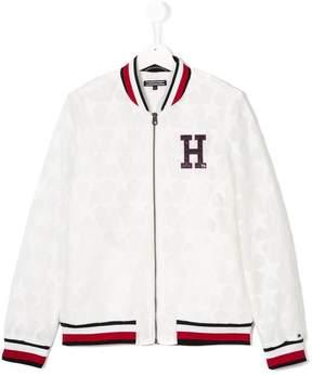 Tommy Hilfiger Junior mesh star bomber jacket