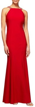 Alex Evenings Women's Embellished Seam Detail Gown