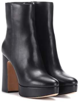 Alexandre Birman Leather plateau ankle boots