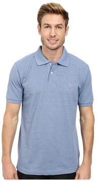 U.S. Polo Assn. Solid Cotton Pique Polo with Small Pony Men's Short Sleeve Knit