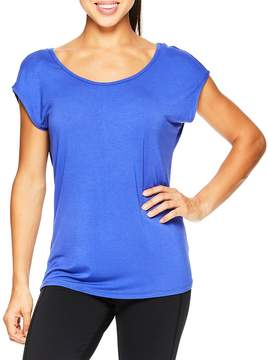 Gaiam Women's Sadie Solid Strappy Tee