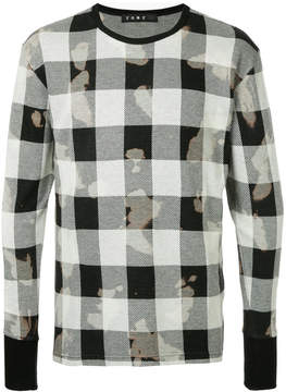 Roar checked long-sleeved T-shirt