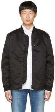 Acne Studios Black Mylon Bomber Jacket